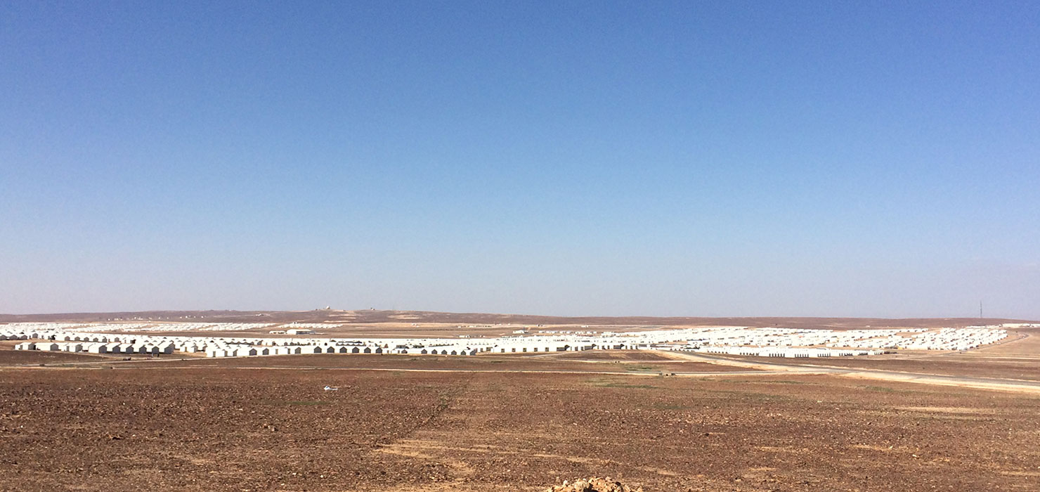 View of the Azraq Refugee Camp